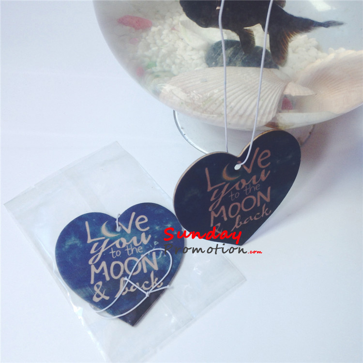 Custom Air Fresheners Australia Heart Shape For Wedding Gifts