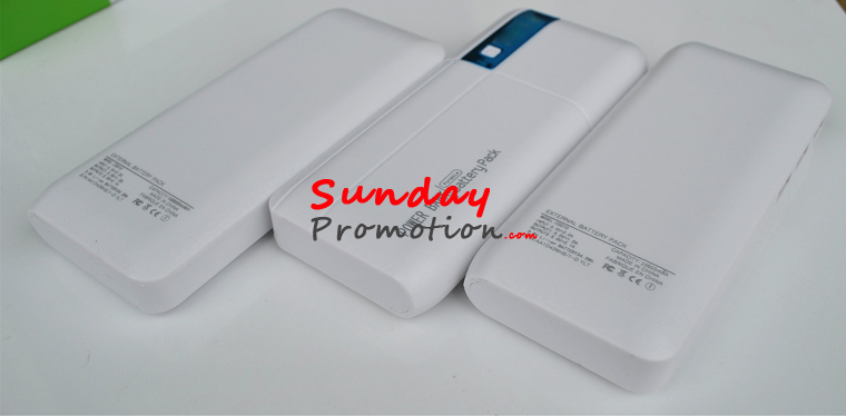 Cheap Promotional Power Banks with Logo with LED 20000mah