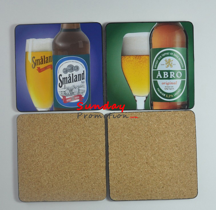 Custom MDF Coasters and MDF Placemats Cork Trivet Sets