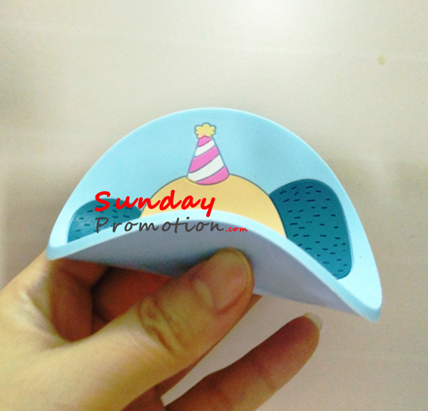 Custom Soft Rubber 2D Coaster, Embossed Plastic Coaster