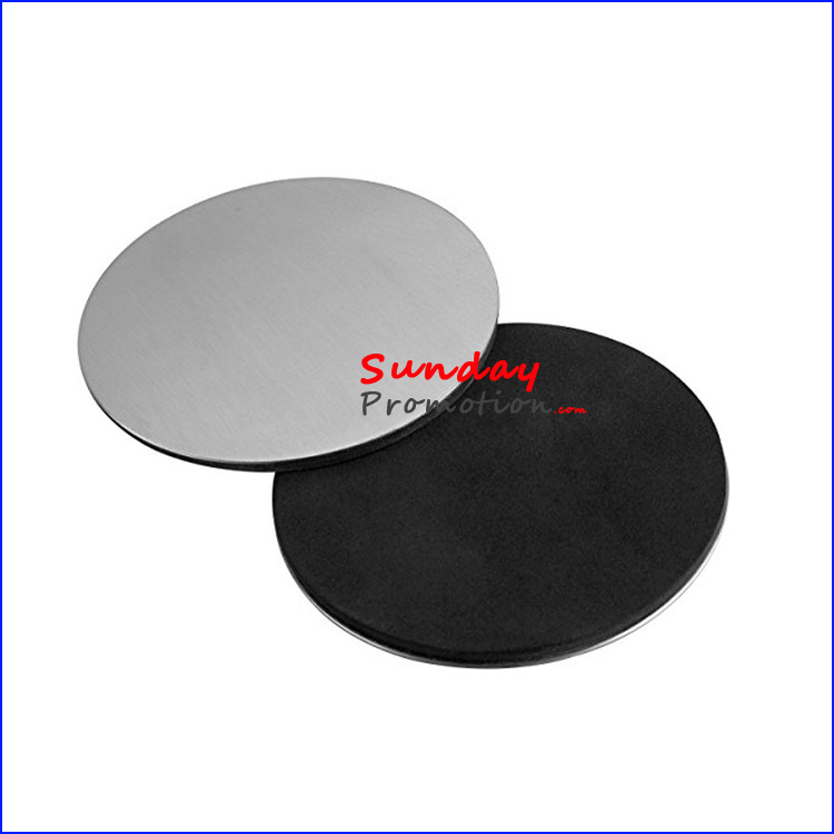 Custom Aluminium Metal Coaster Sets Blank Metal Coaster with Logo Engraved for Giveaway
