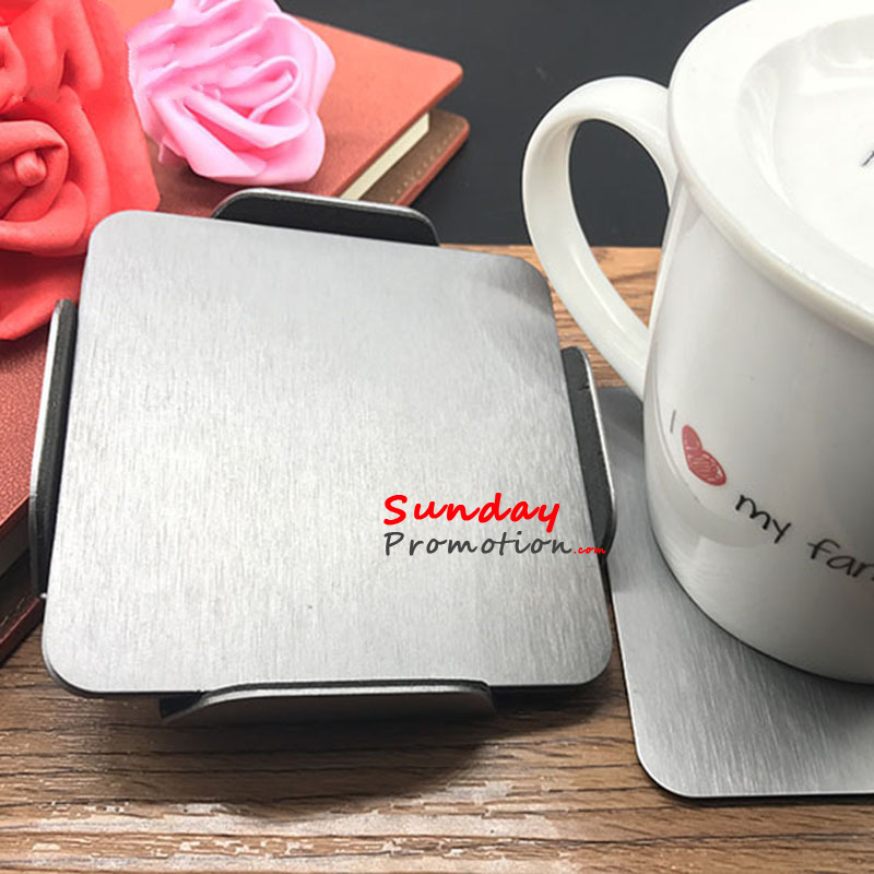 Wholesale Blank Metal Coaster Gift Sets Custom Promotional Business Gift