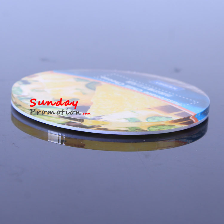Full Color Print Promotional Acrylic Coasters with Custom Logo Round Clear Acrylic
