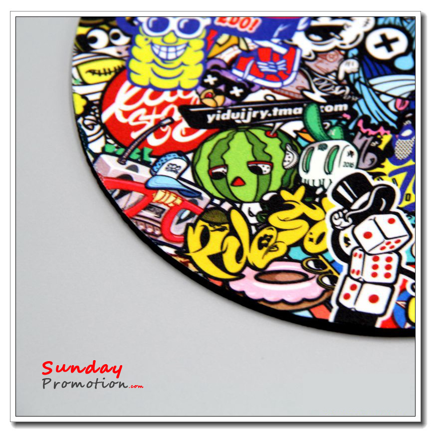 Custom Neoprene Coasters for Promotion with Logo Full Color