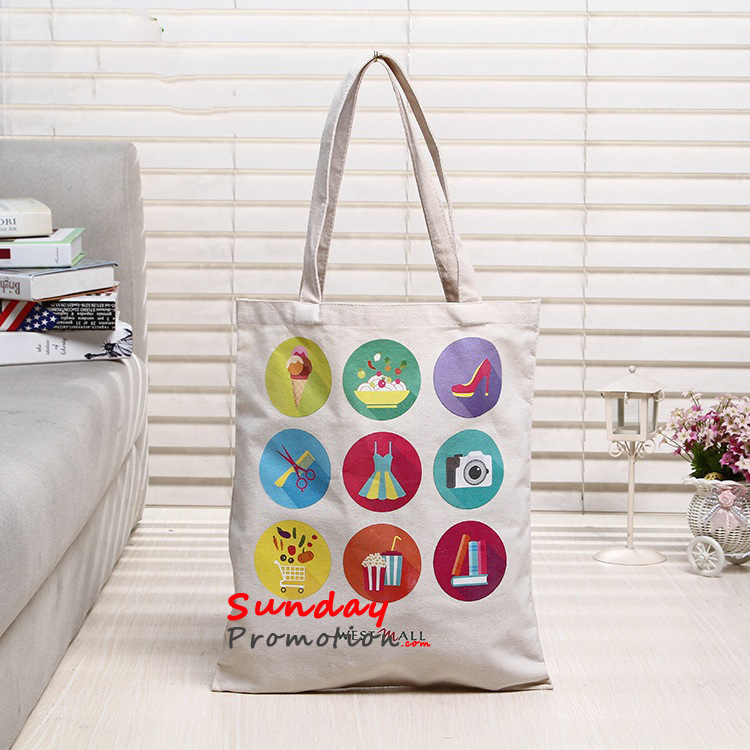 Promotional Totes Personalized Canvas Totes Cheap 12 oz. 31*36cm 7