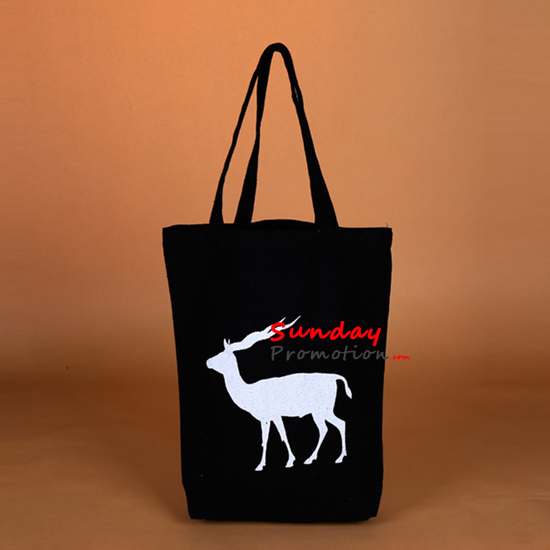 Custom Printed Black Canvas Tote Bags for Promotion 12 oz. 31 40cm 9 64113fcbc