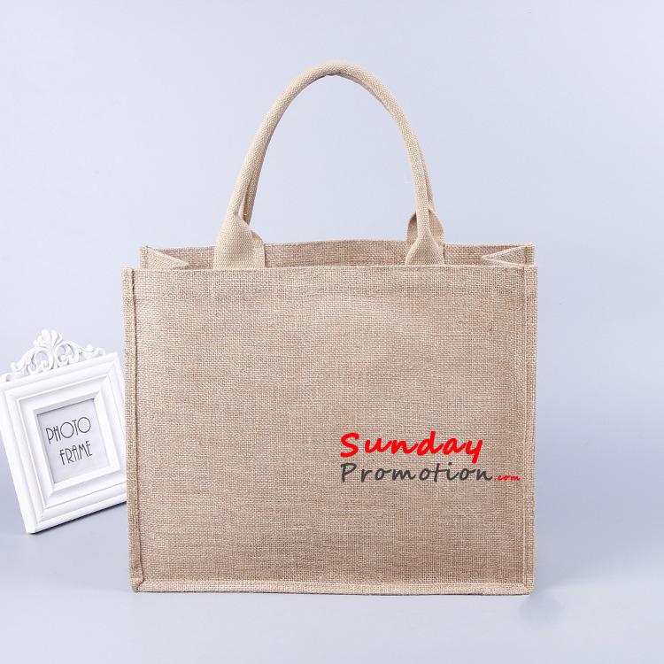 fb1d0d53d Custom Natural Burlap Grocery Tote Bags Large Jute Totes