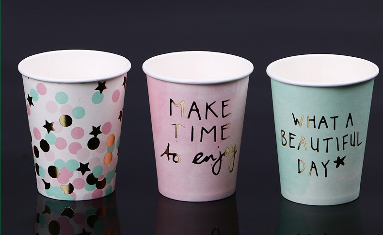 Custom Disposable Paper Cup Full Color Print - 6 oz