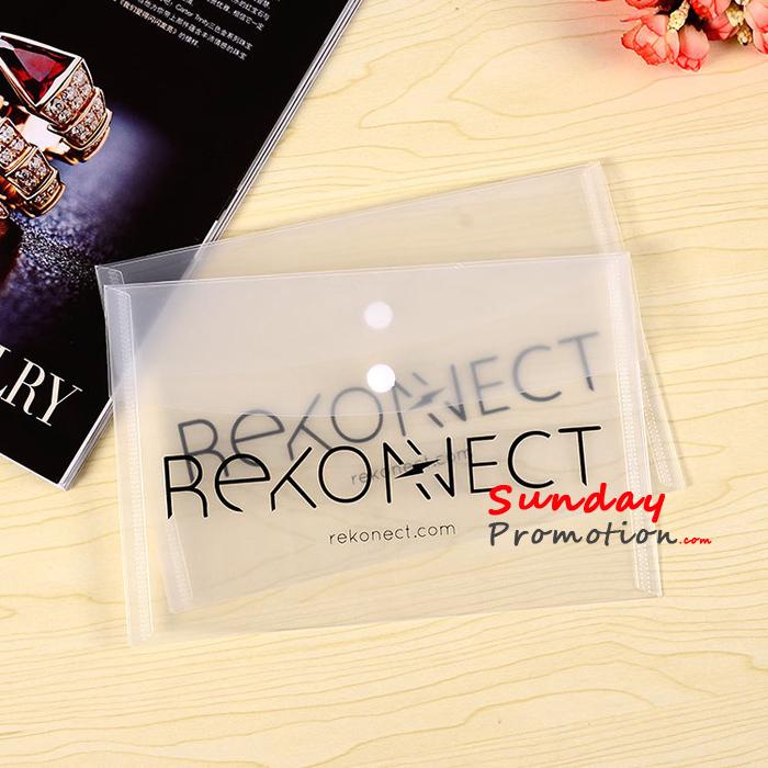 Custom Clear Plastic Envelope Folder Printing Translucent Portfolio