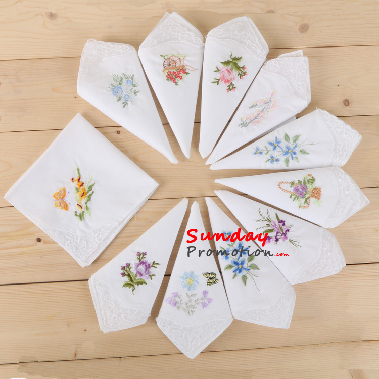Wholesale Embroidered Handkerchief Custom Handkerchief with Logo