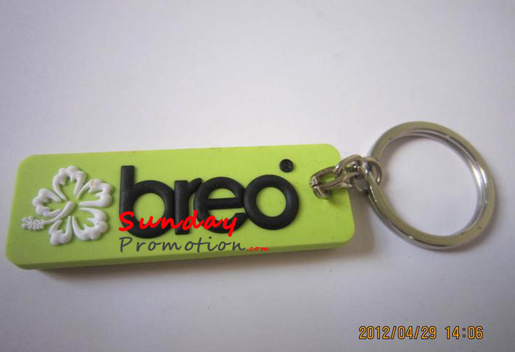 Custom Embossed Soft Rubber PVC Key Tag for Gifts