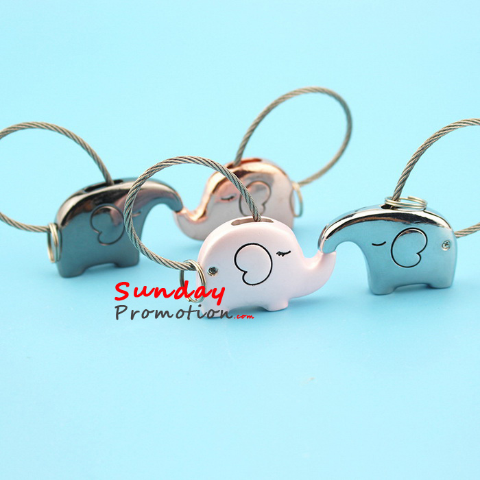 Matching Keychains Elephant Make Your own Metal Keyring 339