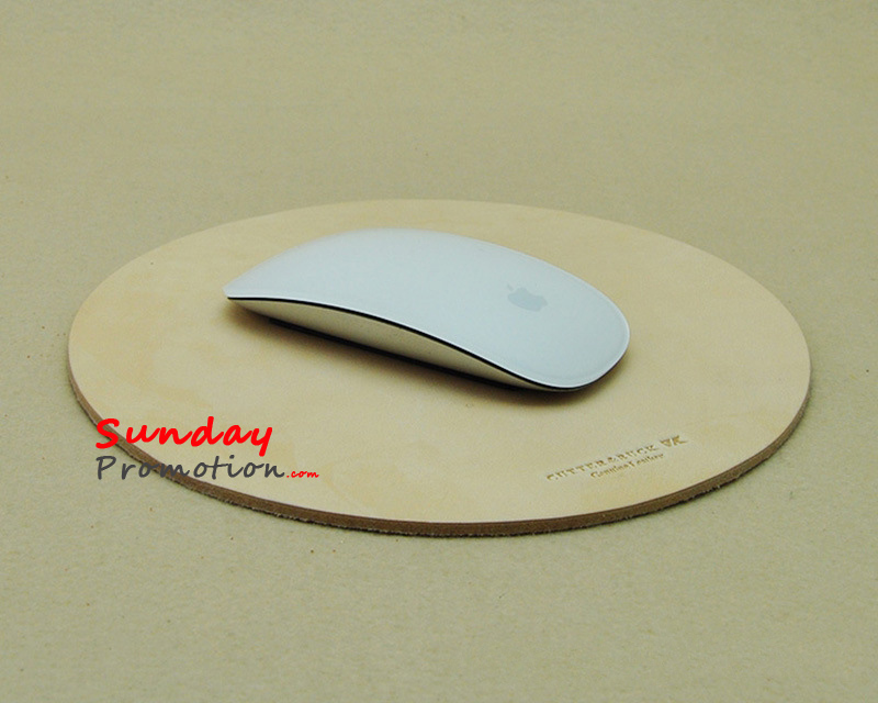 Custom Debossed Leather Mouse Pats in Bulk for Promotional Gifts