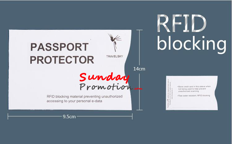 Custom RFID Passport Shield Password Scanner Blocker with Print