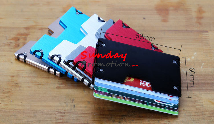 promo code 66d40 7d488 Aluminium Card Holder Metal Credit Card Case RFID Wallet Factory 25