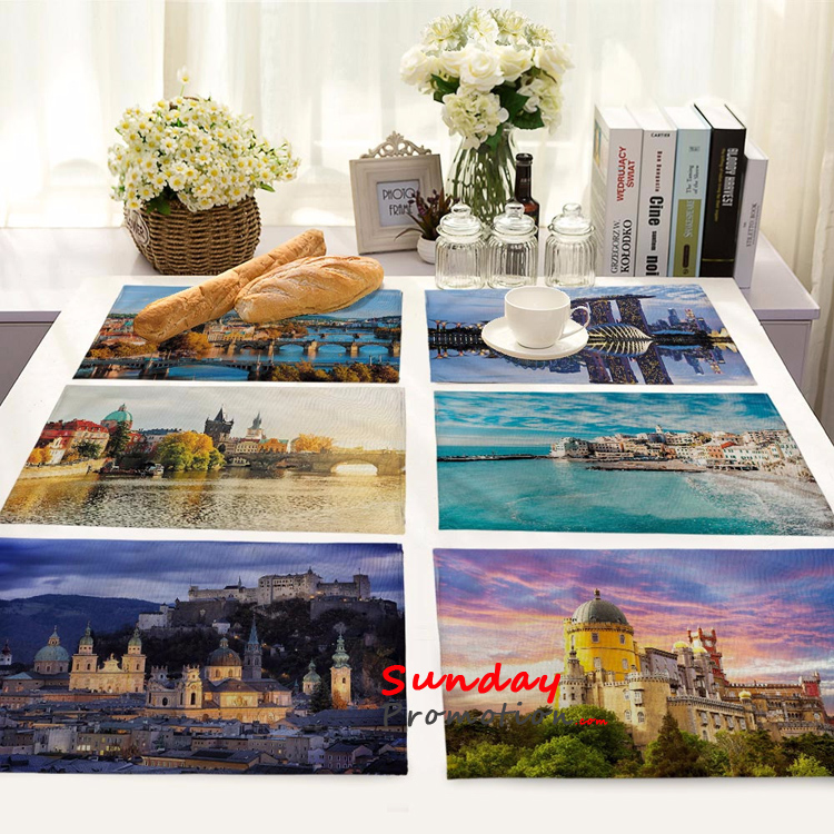 Color Painting Design Table Mats Custom Imprint Promotional Dinning Mats Online