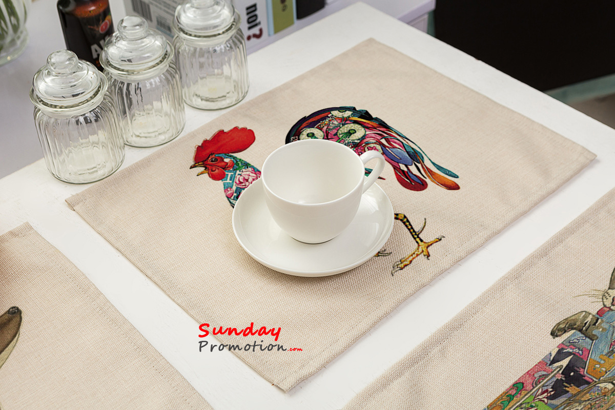 Heat Resistant Washable Fabric Placemats Stylish Quality Canvas Table Mats