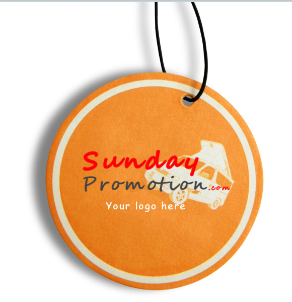 Round Shape Promotion Custom Car Air Freshener - Custom car magnets round   promote your brand
