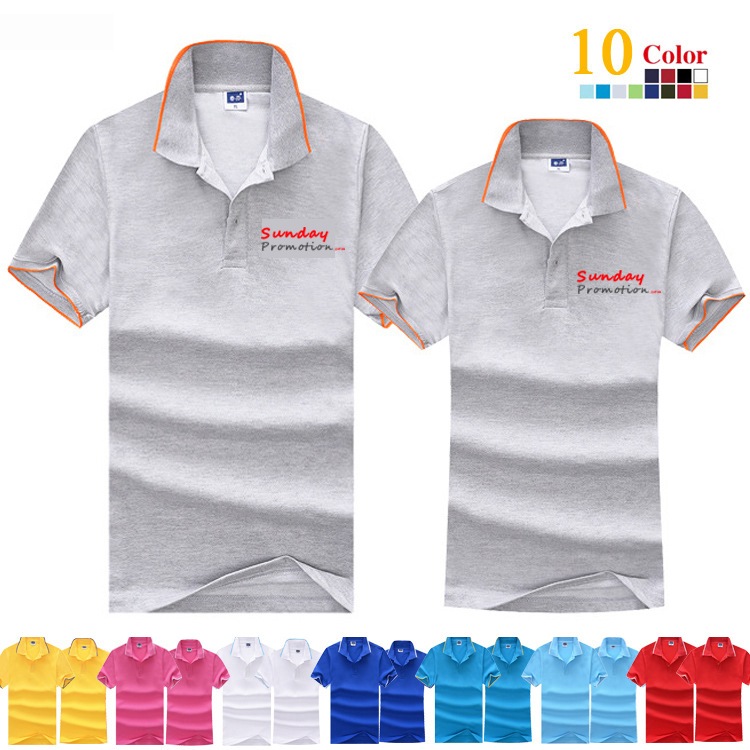 65% Cotton 8-oz Trim Custom Logo Polo Shirts