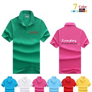 35% Cotton 7-oz Plain Color Custom Polo Shirts